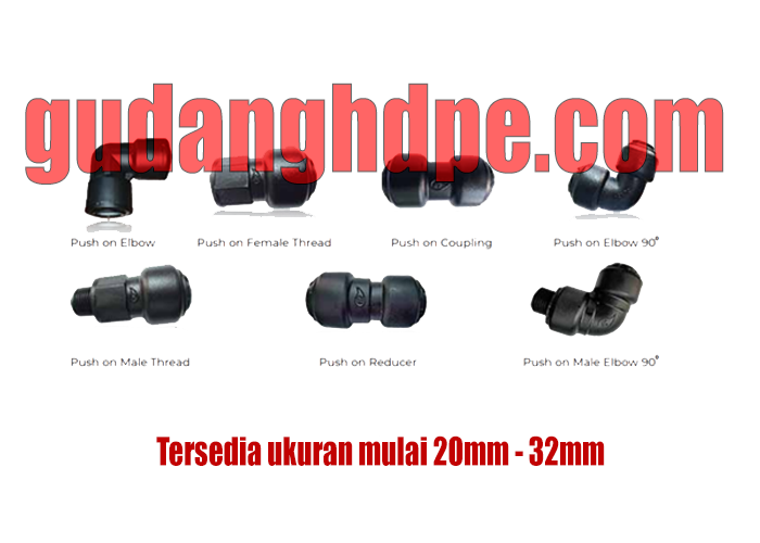 pushfit hdpe fitting